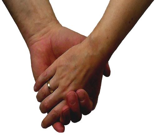 Haende liebevolle Partnerschaft